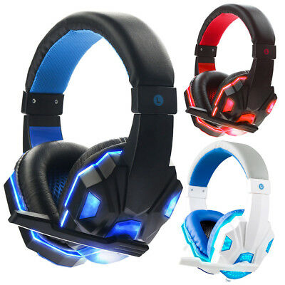 3.5mm Gaming Headset Mic Headphones Stereo Surround for PS3 PS4 Xbox ONE 360 PC 5