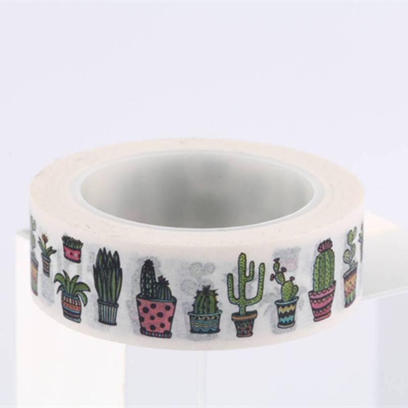 DIY Cute Cactus Washi Tape Decorative Adhesive Tape Masking Diary Decoration 7