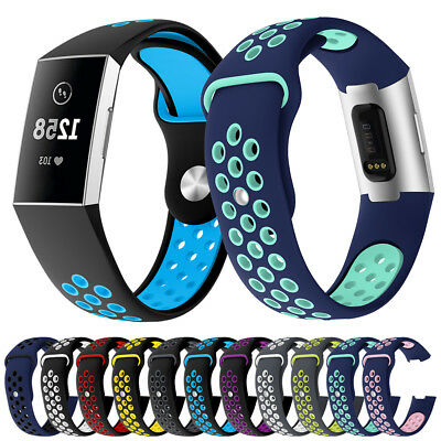 Sport Replacement For Fitbit Charge 3 Silicone Watch Band Bracelet Strap Soft UK 2