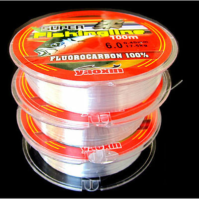 NEW Strong Fishing Line Japanese 100m Nylon Transparent Fluorocarbon Tackle Line 2