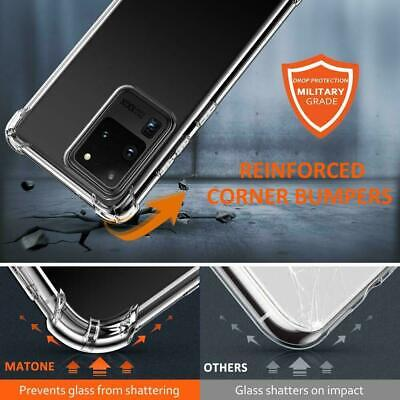 For Samsung Galaxy S20 S20+ Ultra S10 S10+ S10E Heavy Duty Soft Clear Case Cover 4