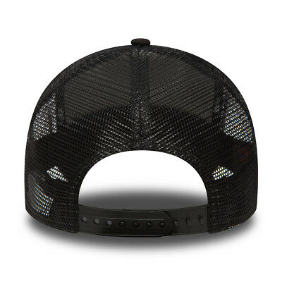 New Era Mens Baseball Cap.new York Yankees Mlb Black A Frame Mesh Trucker Hat 74 3