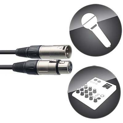 10m Stagg Microphone Wire Cable Male - Female Balanced XLR Mic Audio Lead Colour 2