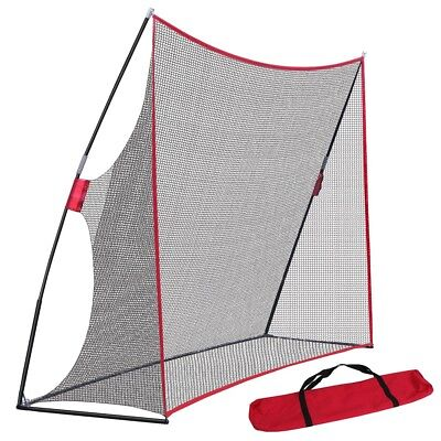 10 x 7FT Portable Golf Hitting Practice Net Driving Training Aids w/ Carry Bag 5