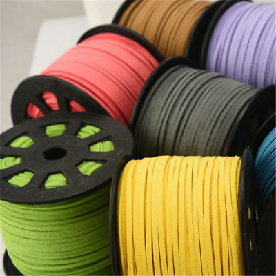5mx 3mm wide Faux Suede Cord Lace Thread String Leather Jewellery Beading 5