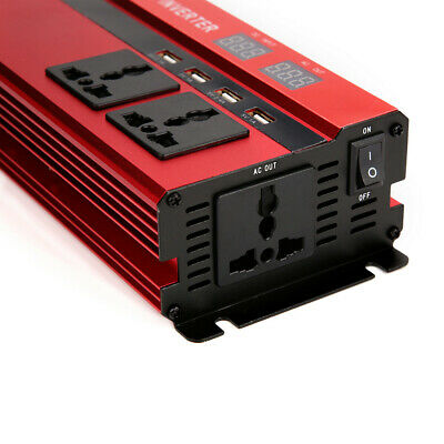 1500/6000W Caravan Power Inverter DC 12V to AC 220V Converter 4 USB 3 Socket UK 11
