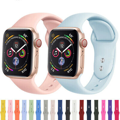 38/42mm 40/44mm Silicone Sports Apple Watch Band Strap for iWatch Series 4 3 2 1 8