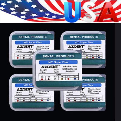 5boxes AZDENT Dental Endodontic Engine Use NiTi Super Rotary File SX-F3 25mm 2