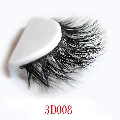 1 Paire Faux Cils 3D Vison Long Naturel Handmade Noir Maquillage Acce
