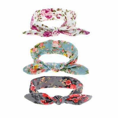 3pcs/Set Baby Girl Headband Ribbon Elastic Headdress Kids Hair Band Newborn Bow 8