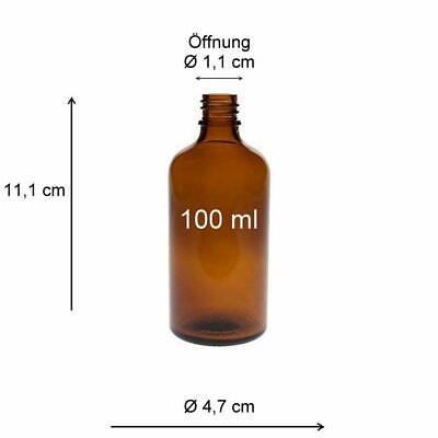 mikken 4 x Sprühflasche 100 ml Braun Apothekerflaschen mit Zerstäuber BPA-frei 2