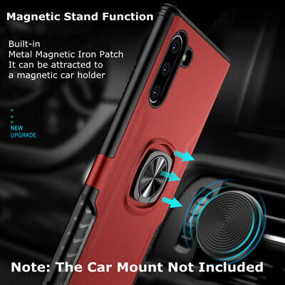 For Samsung Galaxy Note 10/Note 10 Plus Slim Hybrid Ring Stand Phone Case Cover 3