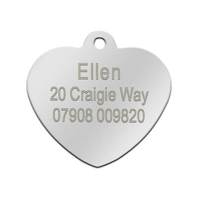 Stainless Steel Personalized Dog Tags Bone Round Military ID Name Tags Sliver 12