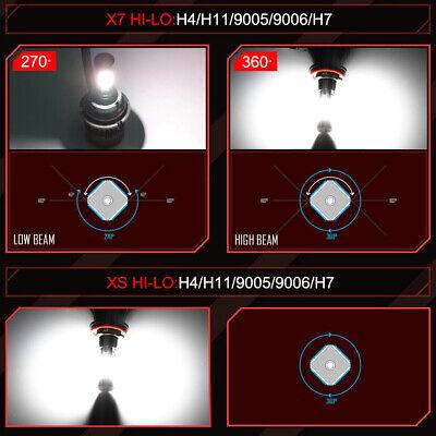 4-Side H11 LED Headlight H8 H9 Kits 2800W 380000LM Bulbs Power 6000K White Best 9