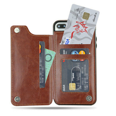 Apple iPhone X XS MAX 8 PLUS XR Case Flip Leather Wallet Card Shockproof Cover 3