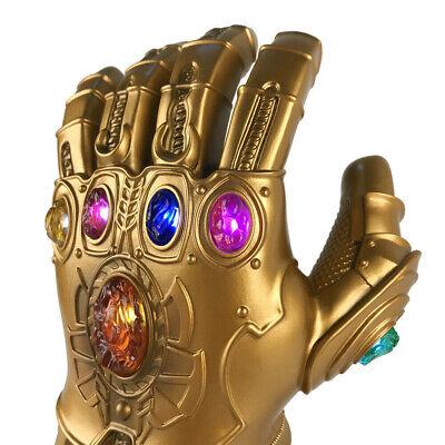2019 Figure & LED Light Thanos Infinity Gauntlet Marvel Legends Gloves Avengers 8