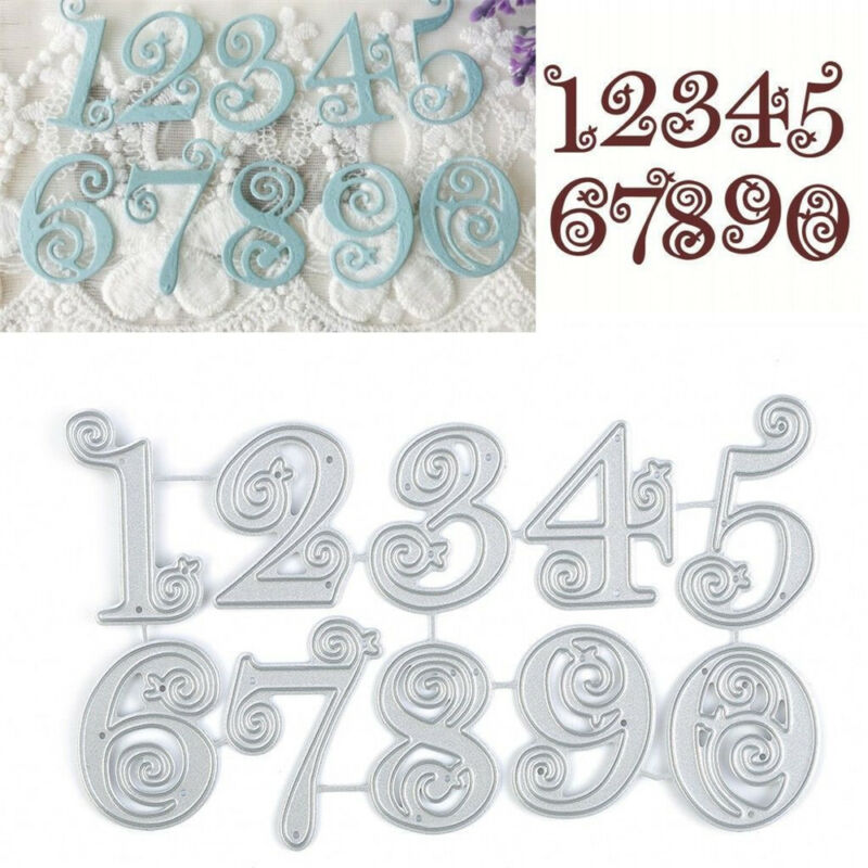Number Lace Numbers Metal Cutting Dies Stencil Scrapbooking Embossing Card Craft 2