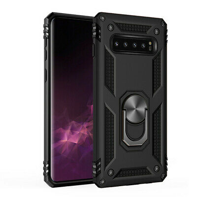 For Samsung S10e S10 Plus S9 S8 Armor Shockproof Magnetic Ring Stand Case Cover 11