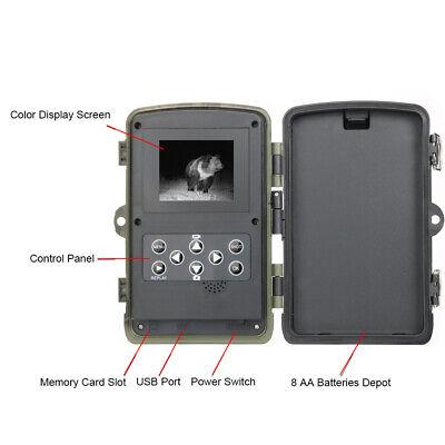 UK 16MP Hunting Trail Camera HD 1080P Wildlife Scouting Cam Night Vision IP65 7