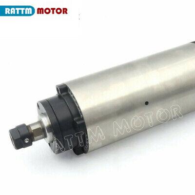 〖FR〗1.5KW Air cooled Spindle Motor ER16 220V& 1.5KW Inverter VFD& 80mm Clamp CNC 7