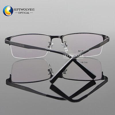 e5a2ffc5c74 ... Men Titanium Metal Half Rimless Myopia Eyeglasses Frames Optical  Eyewear Rx Able 4