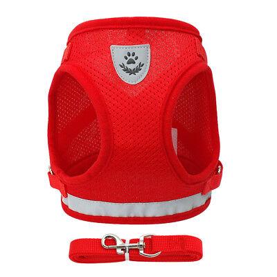 Cat Walking Jacket Harness Leash Escape Proof Adjustable Pet Puppy Dog Mesh Vest 8