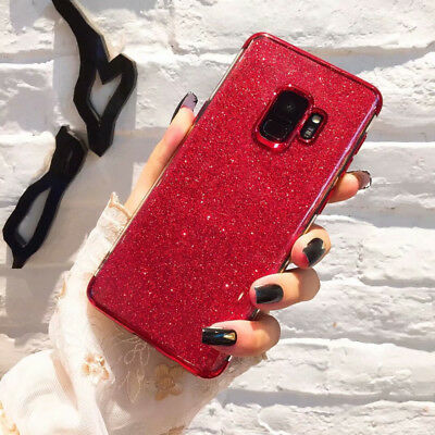 Bling Shockproof Glossy Glitter Case Cover For Samsung Galaxy Note 9 S8 S9 Plus 5