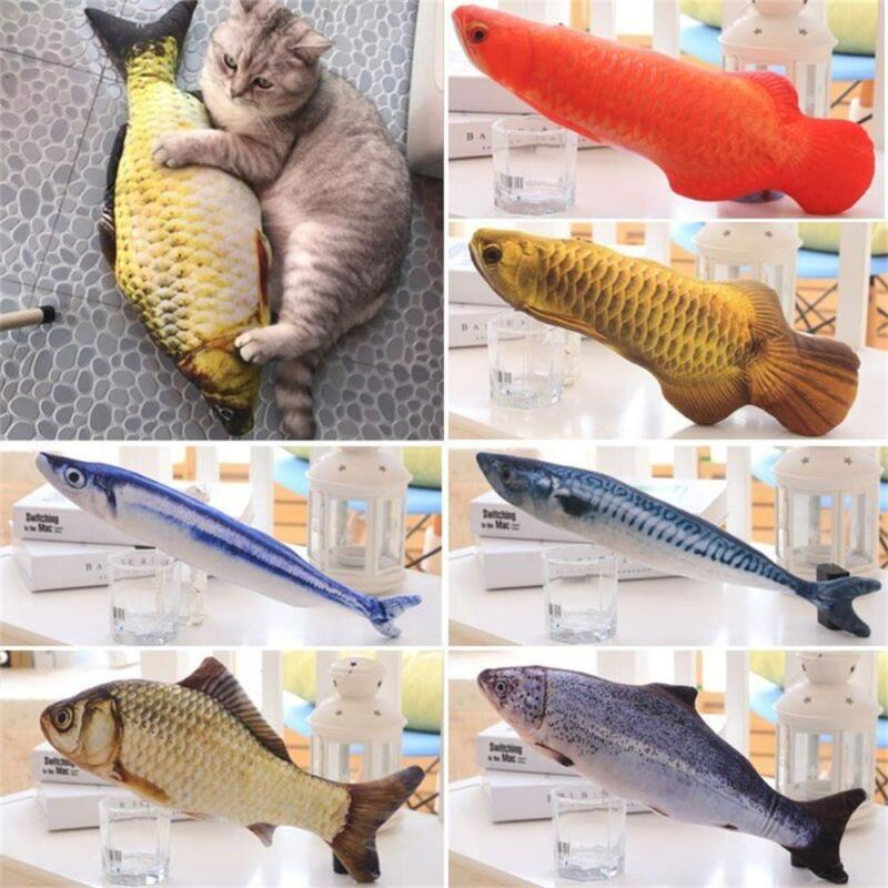Artificial Fish Plush Pet Cat Puppy Dog Toys Sleeping Toy Cat Mint Catnip Toys~ 3