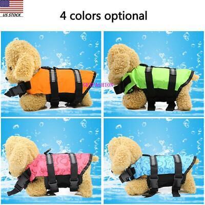 USA Dog Life Jacket Swimming Float Vest Adjustable Reflective  Buoyancy Aid Pet 2