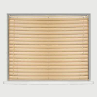 New PVC Blinds Window Venetian Easy Fit Blinds Home Office Wood Effect All Sizes 6