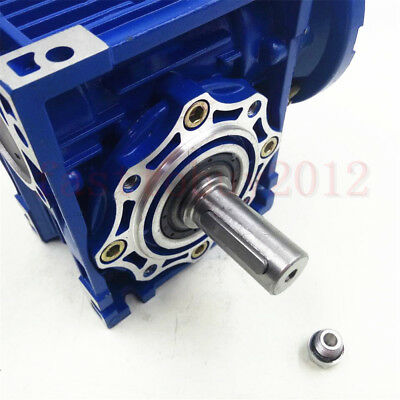 Worm Gearbox 56B14 Flange Reducer 10:1 15:1 30:1 Stepper Asynchronous Motor 2