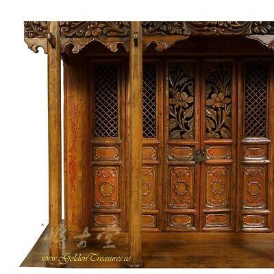 19 Century Antique Chinese Wooden Carved Altar/Buddha House/Shrine 7