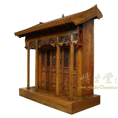 19 Century Antique Chinese Wooden Carved Altar/Buddha House/Shrine 3