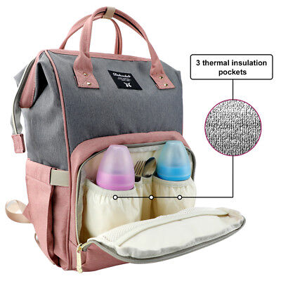 Mummy Maternity Nappy Diaper Bag Large Capacity Baby Bag Travel Backpack 6
