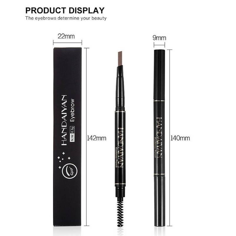 HANDAIYAN 2 in 1 Waterproof Eye Brow Eyeliner Eyebrow Pen Pencil With Brush 11