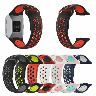 For Fitbit Ionic Replacement Dual Color Silicone Wrist Band Watchband Strap Flow 2