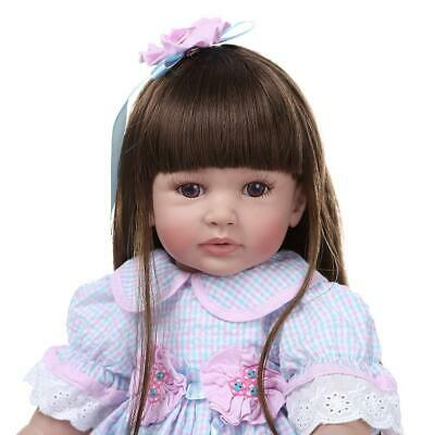 """24"""" Reborn Baby Dolls Weighted Cloth Body Toddler Girl Doll Real Size Xmas Gifts 4"""