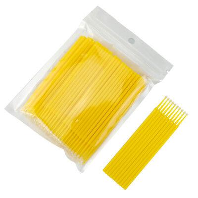 100/300/500pc Dental Micro Brush Disposable Material Tooth Applicators Medium 8