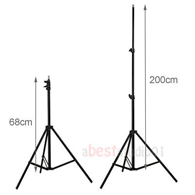 Photography Studio Backdrop Softbox Umbrella Lighting Kit Background Stand Set 9