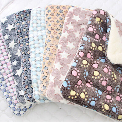 Dog Cat Puppy Pet Plush Blanket Mat Warm Sleeping Soft Bed Blankets Supplies 8