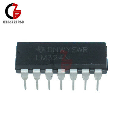 20PCS LM324N LM324 DIP-14 TI Low Power Quad Op-Amp IC