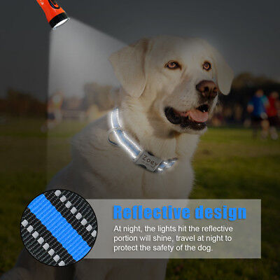 Personalized Dog Collar Small Large Nylon Engraved ID Tags Reflective Labrador 7