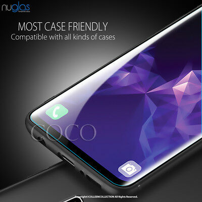 Galaxy S9 S8 Plus Note 9 8 NUGLAS Tempered Glass Full Screen Protector Samsung 10