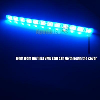 2x 12 Smd Ultra Blue Led Strip Lights For Car Interior Foot Step Diy Lighting