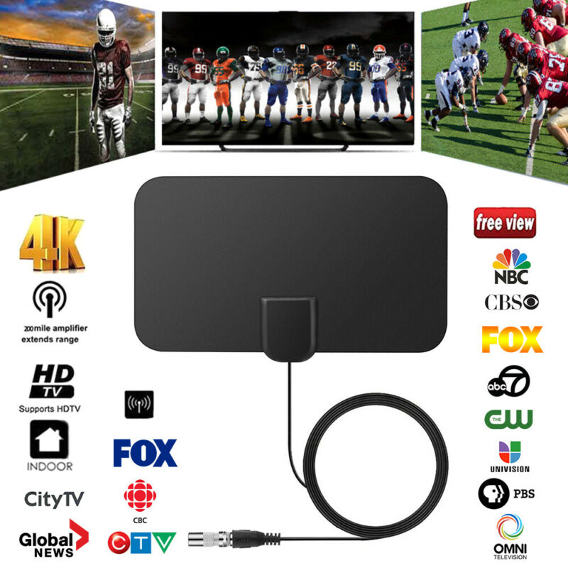 1/2 960 Miles Indoor Digital TV HDTV Antenna [2019 Latest] UHF/VHF/1080p 4K 3