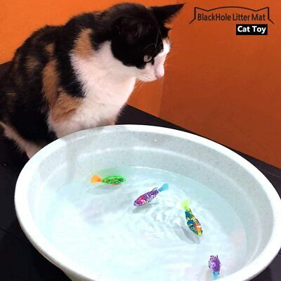 Interactive Swimming Robot Fish Toy for Cat with LED Light 4pc Set 6