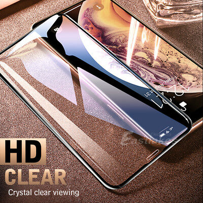 5D Full Coverage Apple iPhone XS Max XR X Tempered Glass Screen Protector Gurad 2