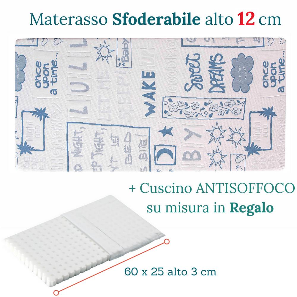 Furniture Materasso Lettino O Culla Minny In Waterfoam 12 Cm E Cuscino Antisoffoco Gratis Beds Mattresses