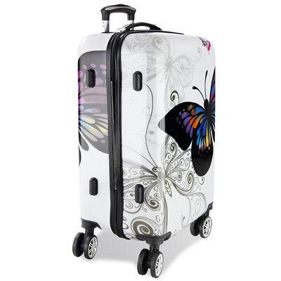 Monzana® Hartschalenkoffer Butterfly Trolley Reisekoffer Koffer M L XL 4 Rollen 8