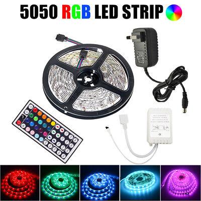 10M 5050 Rgb Led Strip Lights Colour Changing Tape Kitchen Lighting 1M 2M 3M 5M 2